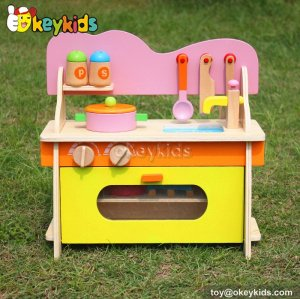 Most popular educational toy wooden kids play kitchen W10C056