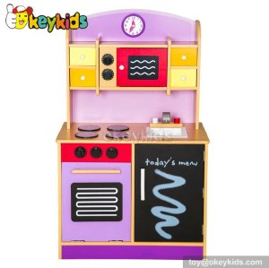 Most popular role play toy wooden kitchen set for kids W10C112