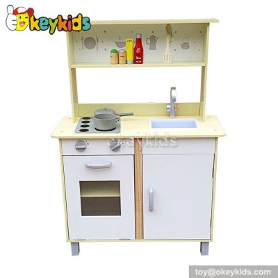 Cooking play children wooden toy kitchen for sale W10C228