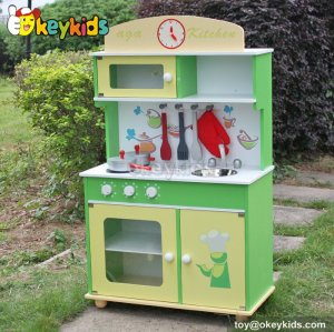 Cooking play toy children wooden kitchen playsets W10C229