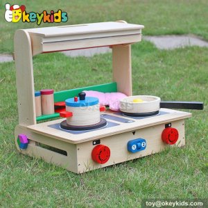 Okeykids Cooking play toy tabletop children wooden kids kitchen playset W10C177