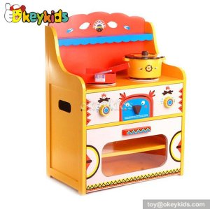 High quality cooking play toy wooden kitchen for kids W10C210