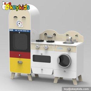 New design cooking play toy wooden children kitchen W10C239