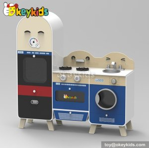 New design cooking play toy wooden kids toy kitchen W10C240