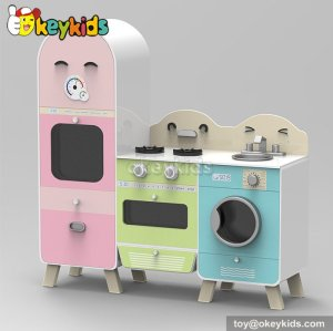 New design cooking play toy wooden play kitchens for toddlers W10C241