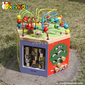 Best design beads and maze toy children wooden toys for toddlers W12D047