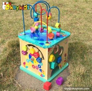 Top fashion kids preschool multi beads toy wooden activity box W11B088