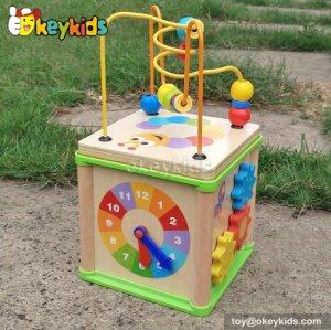 Top fashion kids multi toy wooden activity center W11B123