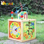 Top fashion kids multi toy wooden 5 in 1 activity cube W11B127
