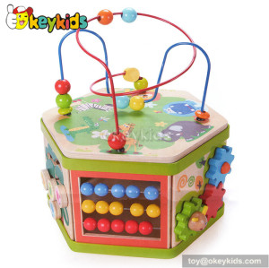 Top fashion toddlers multi toy wooden activity box W11B062