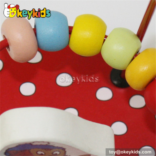 Most popular toddlers educational toy wooden bead maze W11B054