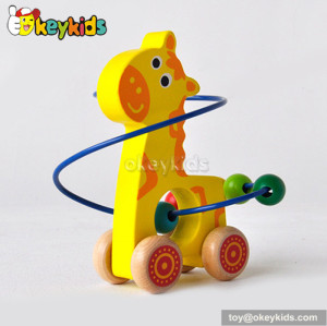 Most popular toddlers educational toy wooden wire bead toy W11B070