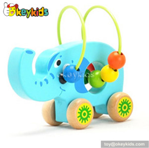 Most popular educational toy wooden wire bead toys for 1 year old boys W11B071