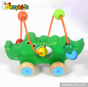 Top fashion toddlers preschool wooden wire bead toys for 1 year old boys W11B072