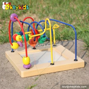 Top fashion toddlers preschool wooden bead maze table for 1 year old boys W11B129