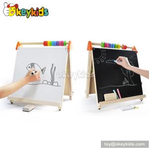 Popular double-sided educational kids wooden board W12B055