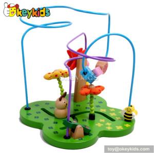 Top fashion toddlers preschool wooden bead maze toy W11B073