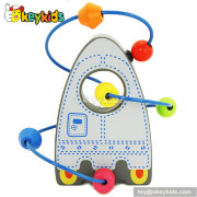 Top fashion toddlers home play wooden bead toy for 1 year old W11B077