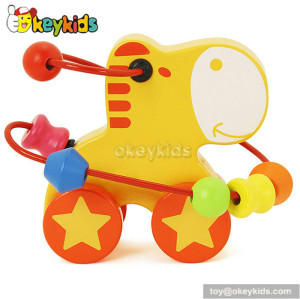 Top fashion toddlers home play wooden toy bead for 1 year old W11B078