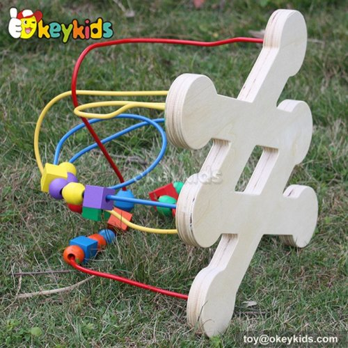 Top fashion toddlers home play wooden wire maze for 1 year old W11B079