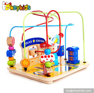 Top fashion toddlers home play wooden bead and wire toy for 1 year old W11B120