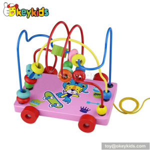 Best design trailer around the bead wooden bead maze toys for 1 year old W11B018