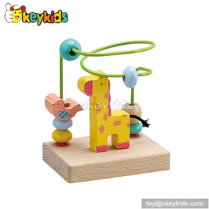 Best design baby wooden beads on wire toy gifts for 1 year old boy W11B020