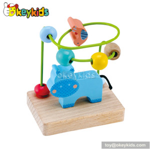 Best design preschool baby animal wire beads toy wooden educational toys for 1 year old W11B024