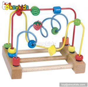 Best design educational toy wooden classic bead maze for toddlers W11B040