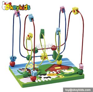 Best design preschool baby wooden toy beads on wire W11B030
