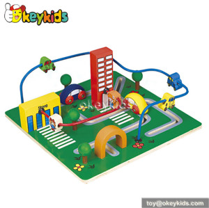 Best design toddlers educational toy wooden classic toy bead maze W11B045