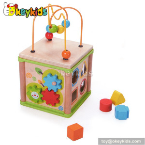Most popular toddlers educational toy wooden bead around the table W11B069