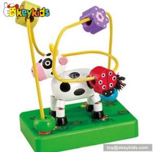 Best design preschool toy wooden bead games for kids W11B050