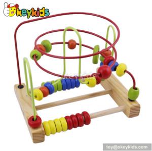 Best design educational wooden baby bead maze W11B056
