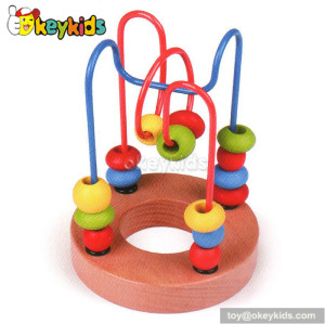 Top fashion toddlers educational wooden bead and wire toy for 1 year old W11B064