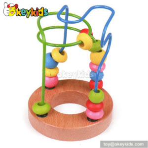 Top fashion educational wooden bead toys for toddlers W11B066