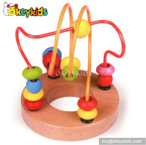 Top fashion educational toddlers wooden classic bead maze W11B068