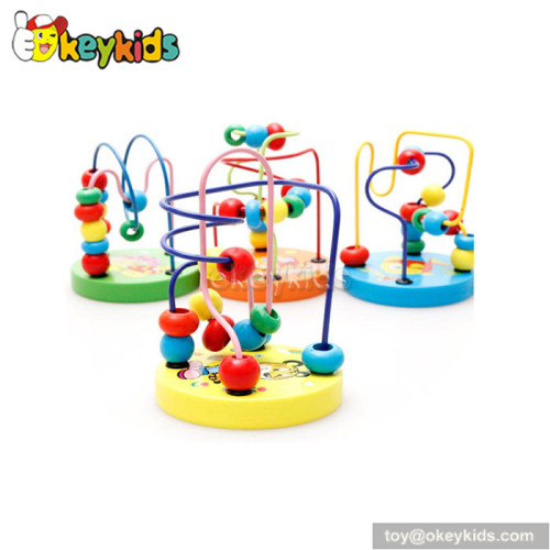 Top fashion educational toddlers wooden classic toy bead maze W11B109