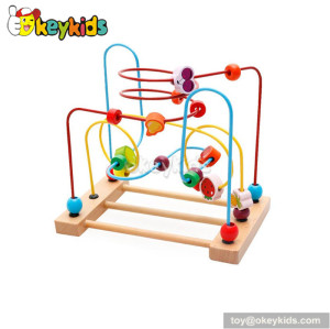 Wholesale cheap educational toy toddlers wooden tabletop bead maze W11B111