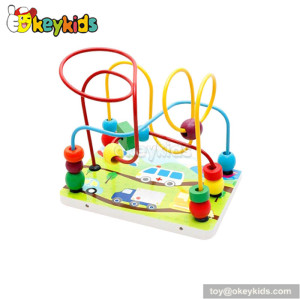 Wholesale cheap educational toy toddlers wooden toy bead maze W11B112