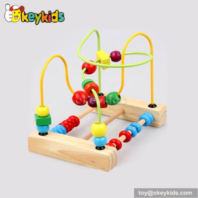 Wholesale cheap educational toy toddlers wooden wire and bead toy W11B116