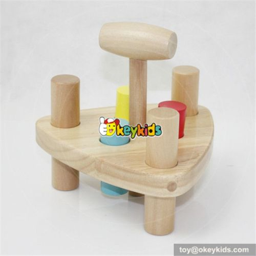 Most popular toddlers educational toy pounding wooden peg toy W11G013
