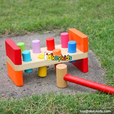 Most popular educational kids pound a peg wood toy with hammer W11G018