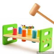 Most popular kids educational toy wooden pounding bench W11G021