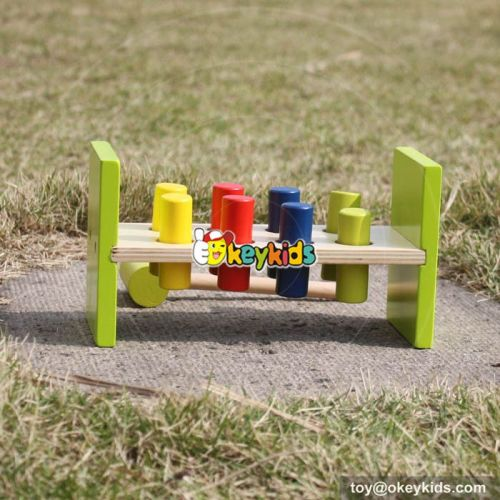 Most popular kids educational pounding bench wooden hammer toy W11G025