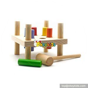 Most popular preschool kids pound a peg wooden bench W11G027
