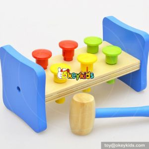Most popular preschool kids pounding toy wooden toy hammer and pegh W11G029