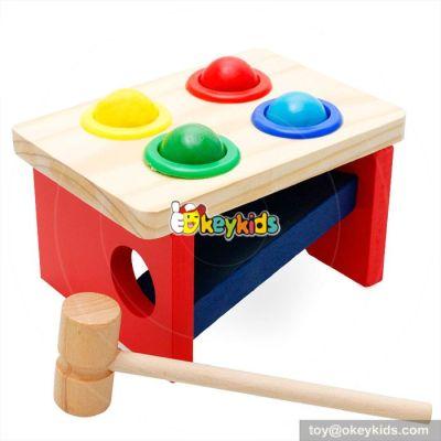 Most popular preschool kids pound toy wooden hammer bench W11G023