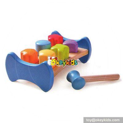 Most popular preschool kids pound bench wooden piling beat W11G019