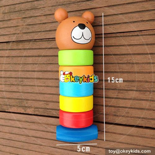 Most popular preschool kids educational toy wooden baby pounding toy W11G030